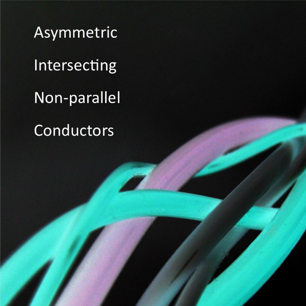 Asymmetric, intersecting, non-parallel conductors provide unique benefits with our tunable audio cables, interconnects and speaker cables